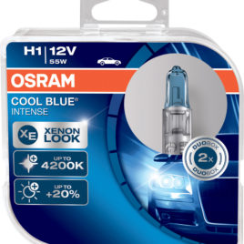 OSRAM COOL BLUE INTENSE 4200K H1 DUO – 55W HALOGÉNEO