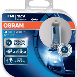 OSRAM COOL BLUE INTENSE 4200K H4 DUO – 55W HALOGÉNEO