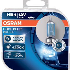 OSRAM Cool Blue Intense 4200k HB4 DUO – 55W Halogéneo