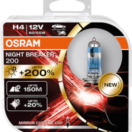H4 Osram Night Breaker Laser +200% Pack DUO 64193NB200-HCB